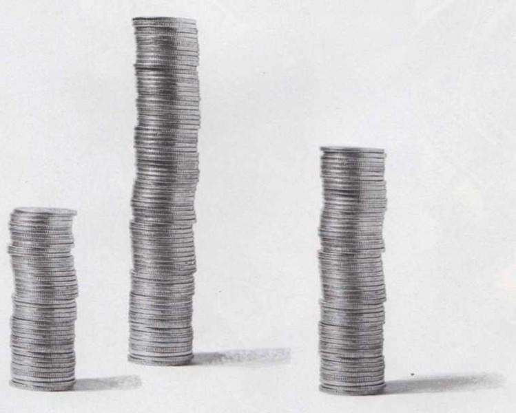 El borde de las monedas