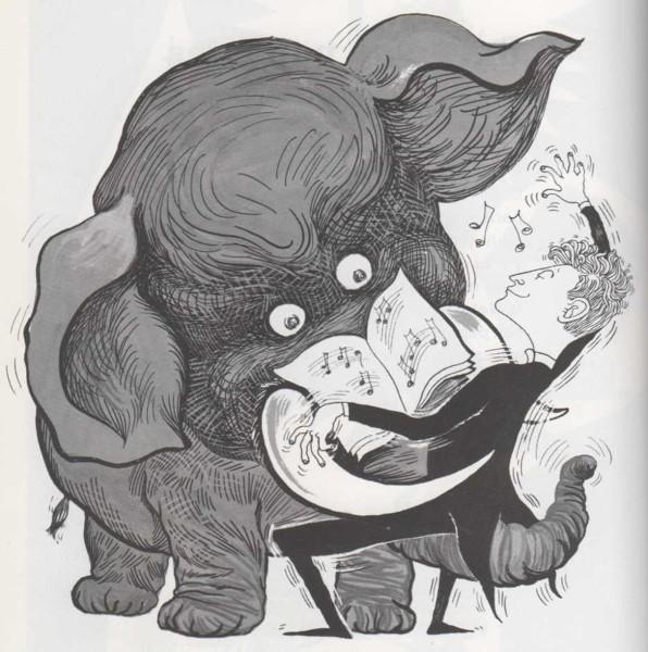 Colmillos de elefante y teclas de piano