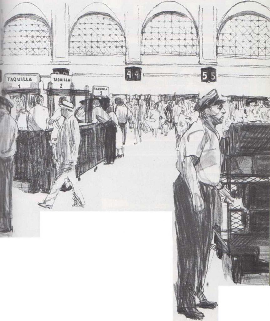 En la estación del ferrocarril