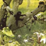Los monos y el cocodrilo