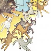 Los siete cabritos y el lobo