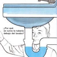 ¿Por qué se curva la tubería debajo del lavabo?