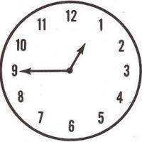 ¿Qué señalan las saetas del reloj?