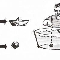 ¿Por qué flota un barco de acero?
