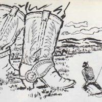 Botas y espuelas de cowboy