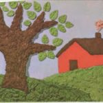 Pinturas en relieve hechas con pasta