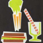 Bebidas, ensaladas y bocadillos