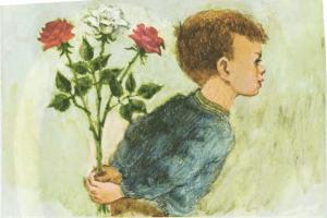 Rosas blancas o rojas